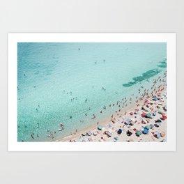 Busy Beach Art Print