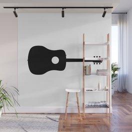 Acoustic Guitar Silhouette Wall Mural