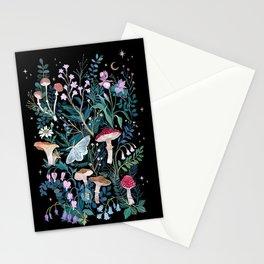 Night Mushrooms Stationery Cards
