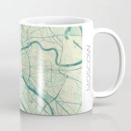 Moscow Map Blue Vintage Coffee Mug