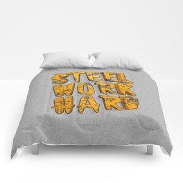 STEEL WORK HARD Comforters
