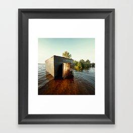 La maison du Lac Framed Art Print