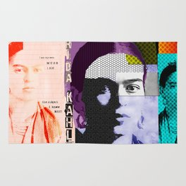 Frida Kahlo Abstract Pop Art Portrait by Michel Keck Rug
