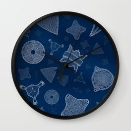 Diatoms - microscopic sea life Wall Clock