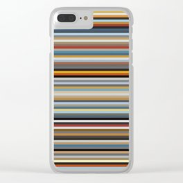 Nordic Stripes Pattern Horizontal Clear iPhone Case