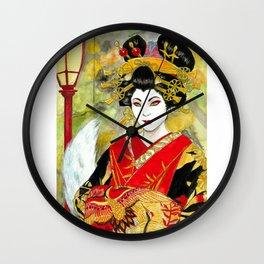 Lady Kitsune Wall Clock