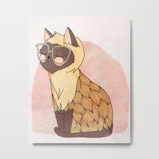 Hip Cat Metal Print