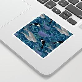 Beautiful Ocean Giants - teal Sticker