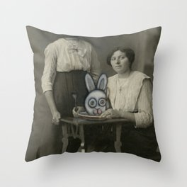 Atered Cabinet Photo - Rabbit Lunch  Throw Pillow
