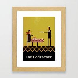 Godfather Pixel Art Framed Art Print