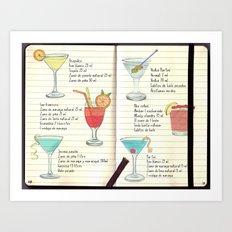 Cocktails Spanish Art Print