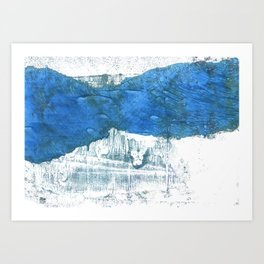 Lapis lazuli abstract watercolor Art Print