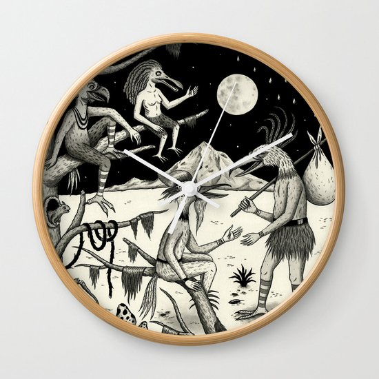 Welcomed Into the Fold By Other Strange Birds Wall Clock