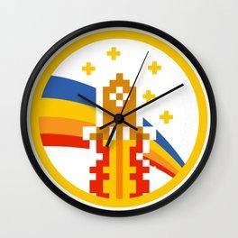 Dogecoin up rocket t Wall Clock