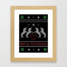 Unicorn Christmas Framed Art Print