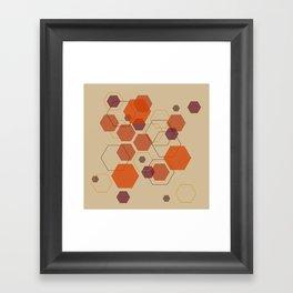 Hexagon Autumn Framed Art Print