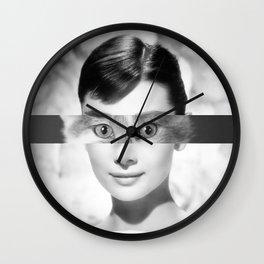 Audrey's eyes Wall Clock