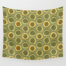 Solar Eclipse MCM Green Wall Tapestry