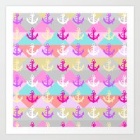 anchors Art Prints featuring Anchors by Ornaart