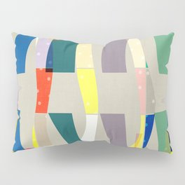 COLOR BLOCK LINEN #5 . MINIMALIST ABSTRACT Pillow Sham