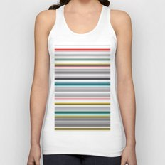 grey and colored stripes Unisex Tank Top