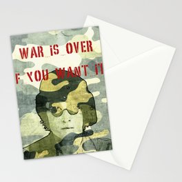 Quote - war is over if you want it Stationery Cards