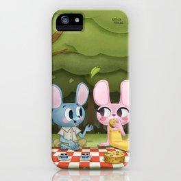 Romantic picnic iPhone Case