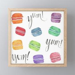 Yum! Macarons Framed Mini Art Print
