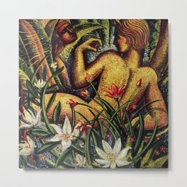 'Lovers & Orchids - The Garden of Eden' by J. Andre Smith Metal Print