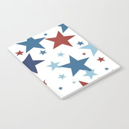 Stars - Red, White and Blue Notebook