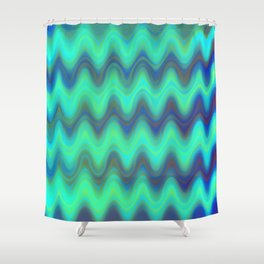 Agate Wave Blue - Mineral Series 001 Shower Curtain