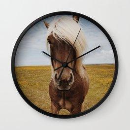 Icelandic Horse #4 Wall Clock