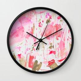Fluorescent Red Wall Clock