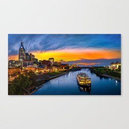 Nashville Skyline with General Jackson Canvas Print