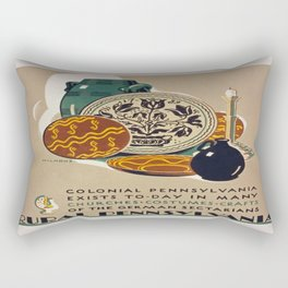 Vintage poster - Rural Pennsylvania Rectangular Pillow