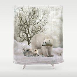 Awesome polar bear Shower Curtain