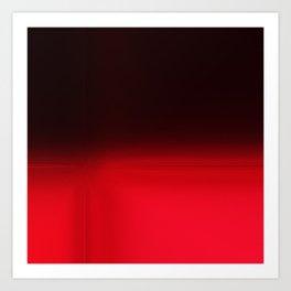 Red Ombré Block Design Art Print
