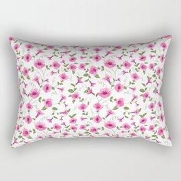 vintage floral card Rectangular Pillow