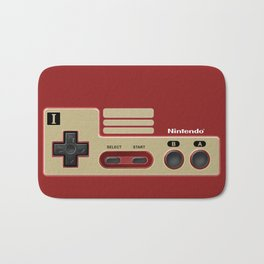 Classic retro Red Gold game controller iPhone 4 5 6 7 8, tshirt, mugs and pillow case Bath Mat