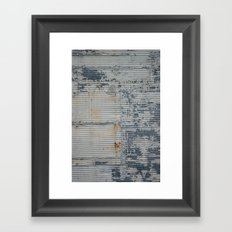 Warehouse District -- Rustic Industrial Farm Chic Abstract Framed Art Print
