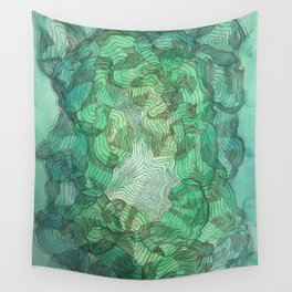 Green Blobs Wall Tapestry