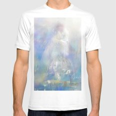 Angel on the city White MEDIUM Mens Fitted Tee