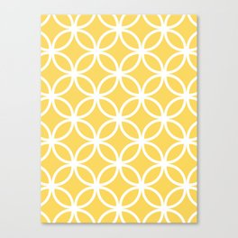 Yellow Geometric Circles Canvas Print