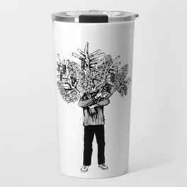 lilac and cones Travel Mug