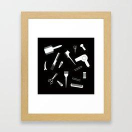 Hairdressing Tools Framed Art Print