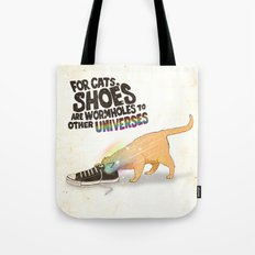 For Cats, Shoes are Wormholes to Other Universes Tote Bag