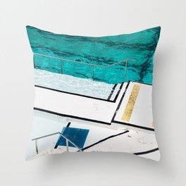 Bondi Icebergs Club III Nautical Geometry Throw Pillow