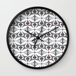 swans pattern Wall Clock
