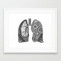lungs Framed Art Prints featuring Lungs by ericajc