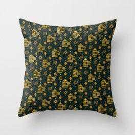 Gold Hand Birdcage Throw Pillow